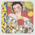 Panamá Carnaval 1937 Pegatina Cuadrada