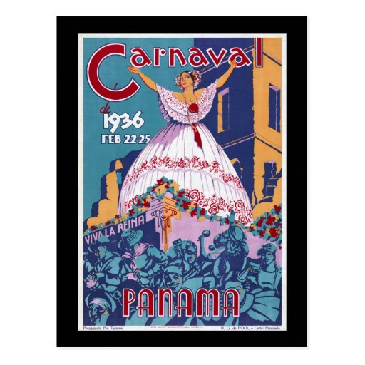 Panamá Carnaval Postales