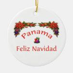 Panama Christmas 1 Double-Sided Ceramic Round Christmas Ornament