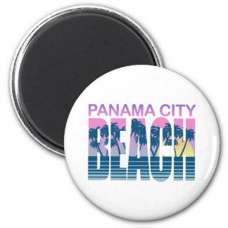 Panama City Beach 2 Inch Round Magnet