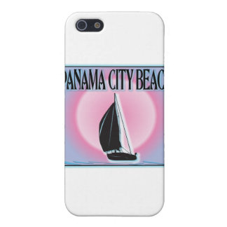 Panama City Beach Airbrushed Look Boat Sunset Cover For iPhone SE/5/5s