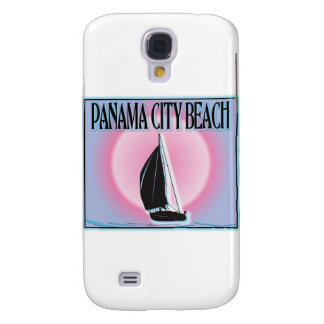 Panama City Beach Airbrushed Look Boat Sunset Galaxy S4 Cover