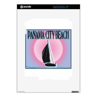 Panama City Beach Airbrushed Look Boat Sunset Skins For The iPad 2