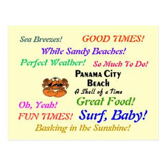 Panama City Beach Crab Post Cards