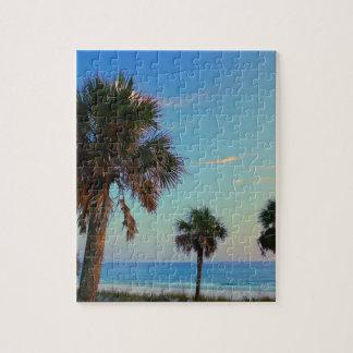 Panama City Beach, Florida palm trees Jigsaw Puzzle