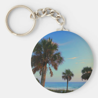Panama City Beach, Florida palm trees Keychain