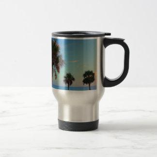 Panama City Beach, Florida palm trees Travel Mug