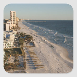 Panama City beach Florida picture Square Stickers