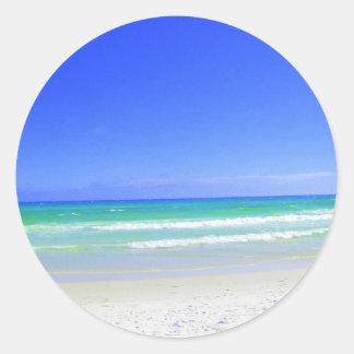 Panama City Beach Florida Round Sticker