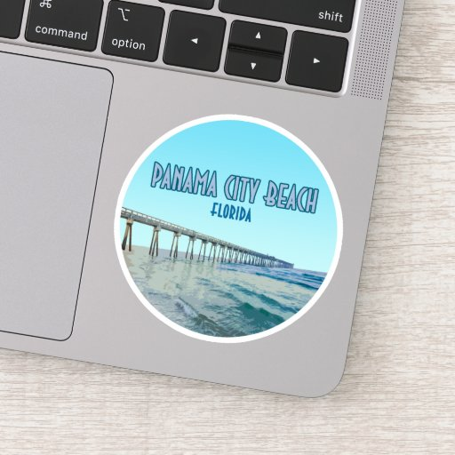 Panama City Beach Florida Vintage Sticker