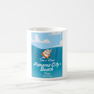Panama City Beach Florida vintage travel poster. Coffee Mug