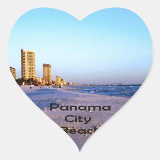 Panama City Beach Heart Sticker