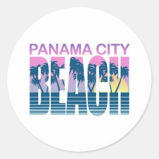 Panama City Beach Round Stickers