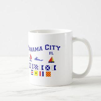 Panama City, FL - Maritime Spelling Coffee Mugs