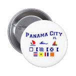 Panama City, FL - Maritime Spelling Pinback Button