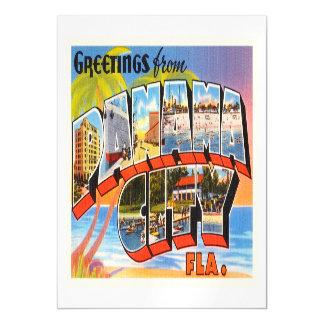 Panama City Florida FL Old Vintage Travel Souvenir Magnetic Card