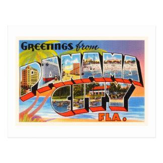Panama City Florida FL Old Vintage Travel Souvenir Postcard