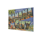 Panama City, Florida - Large Letter Scenes Gallery Wrap Canvas