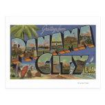 Panama City, Florida - Large Letter Scenes Postcard