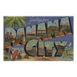 Panama City, Florida - Large Letter Scenes Poster