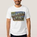 Panama City, Florida - Large Letter Scenes T Shirt