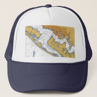 Panama City Florida Nautical Harbor Chart hat