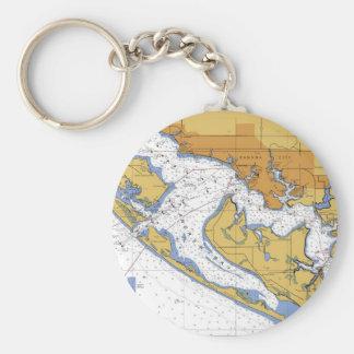 Panama City Florida Nautical Harbor Chart Keychain