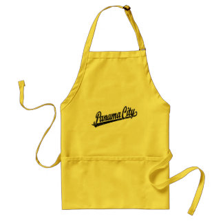 Panama City in black distressed Adult Apron