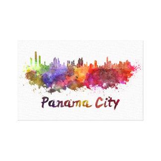 Panama City skyline in watercolor