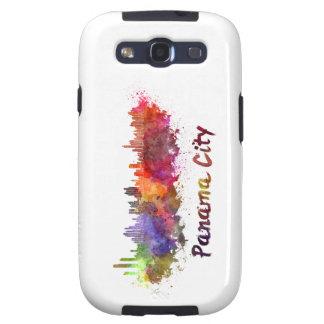 Panama City skyline in watercolor Samsung Galaxy S3 Case