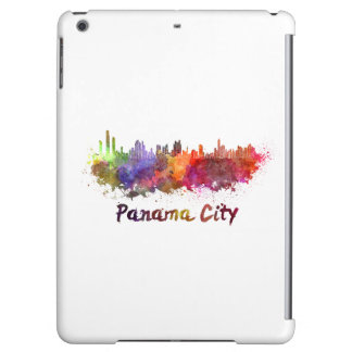 Panama City skyline in watercolor Case For iPad Air