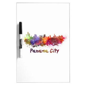 Panama City skyline in watercolor Dry Erase Board
