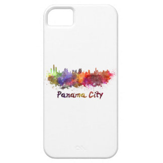 Panama City skyline in watercolor iPhone SE/5/5s Case