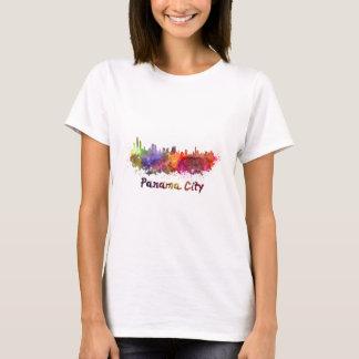 Panama City skyline in watercolor T-Shirt