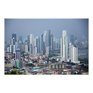 Panama City Skyline Poster