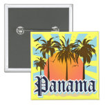 Panama City Souvenir 2 Inch Square Button