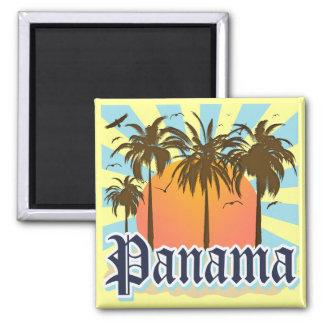 Panama City Souvenir 2 Inch Square Magnet