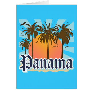 Panama City Souvenir Card