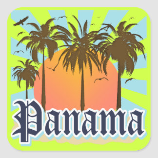 Panama City Souvenir Square Sticker