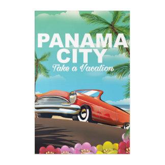 panama city vintage travel poster acrylic print