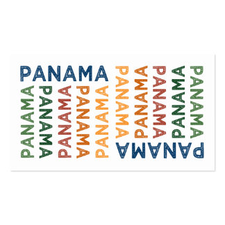 Panama Cute Colorful Double-Sided Standard Business Cards (Pack Of 100)