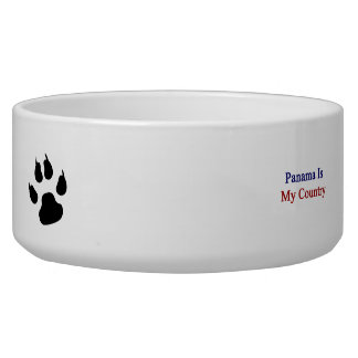 Panama Is My Country Dog Water Bowls