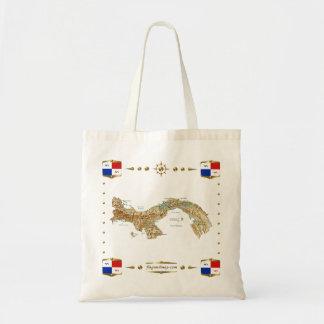 Panama Map + Banners Bag