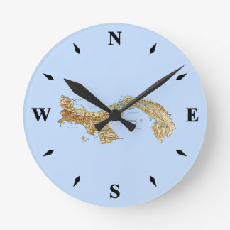 Panama Map Clock