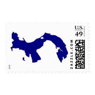 Panama Map Postage Stamp
