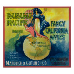 Panama Pacific Apple Crate Label Poster