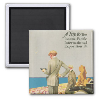 Panama Pacific Exposition 2 Inch Square Magnet