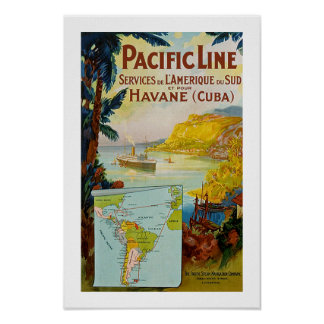 Panama Pacific Line Poster