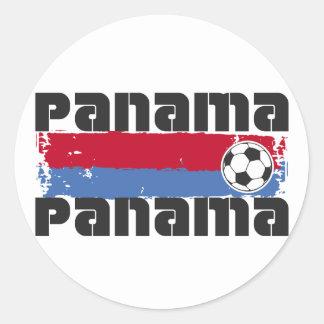 Panama Soccer Round Sticker