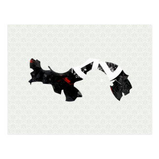 Panama Trendy Peace Sign with Panamanian map Post Card